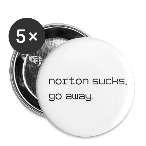 Norton Sucks, Go Away Buttons - Small Buttons