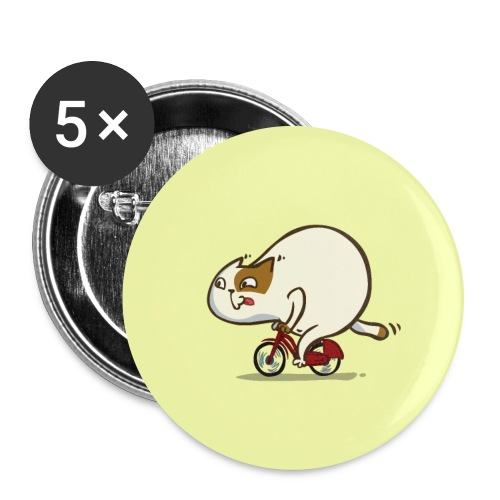 Bicycat — Friday Cat №46 - Large Buttons