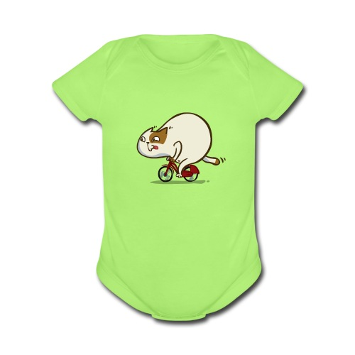 Bicycat — Friday Cat №46 - Organic Short Sleeve Baby Bodysuit