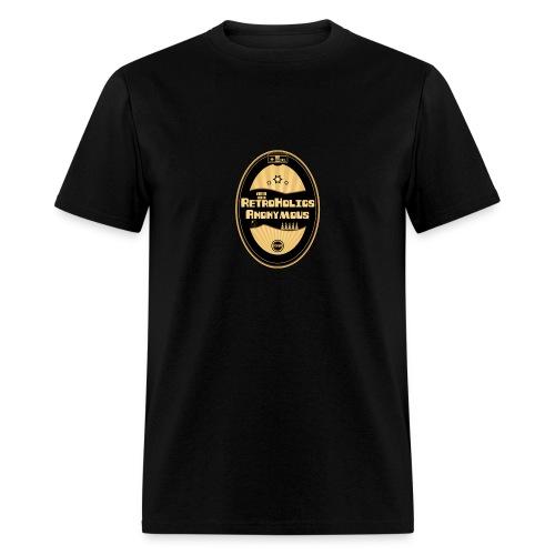 Retroholics Anonymous Mens Shirt - Black - Men's T-Shirt