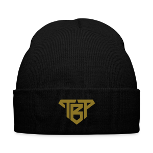 TBP Gold Club Beanie - Knit Cap with Cuff Print