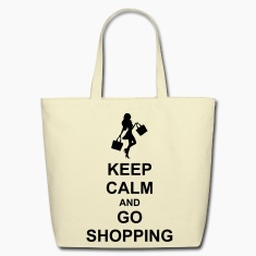 Keep Calm And Go Shopping Bags & backpacks