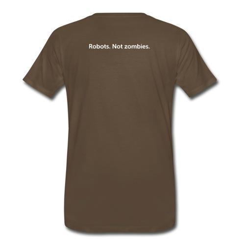 Robots. Not zombies. - Men's Premium T-Shirt