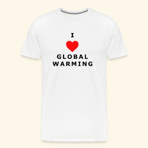 I heart Global Warming - Men's Premium T-Shirt