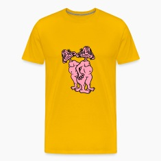 2 old opas naked man ugly disgusting monster horro T-Shirts
