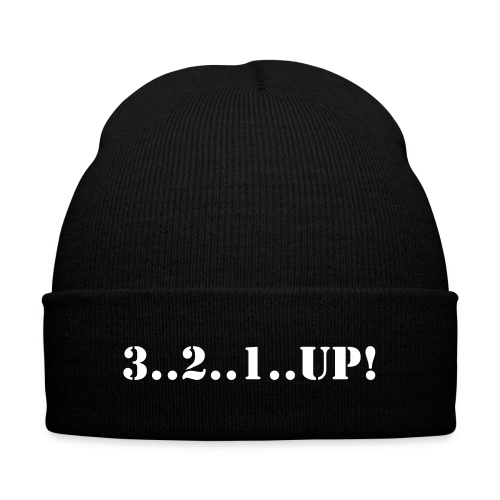 The Squat Beanie - Knit Cap with Cuff Print