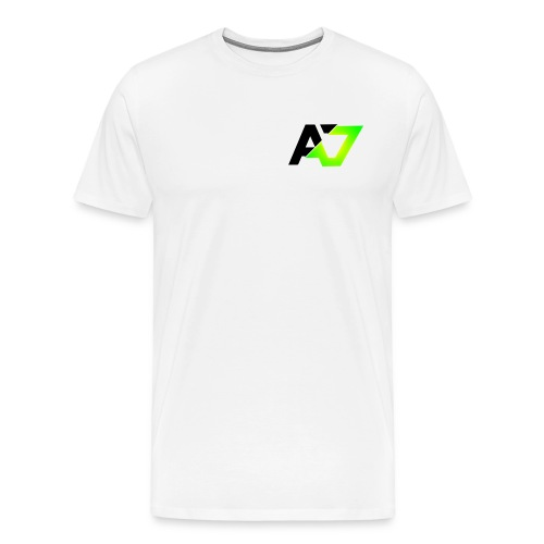 A7 Logo Slice Green - Men's Premium T-Shirt