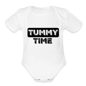 Tummy Time Short Sleeve   - Short Sleeve Baby Bodysuit