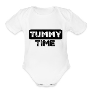 Tummy Time Short Sleeve   - Short Sleeve Baby Bodysuit