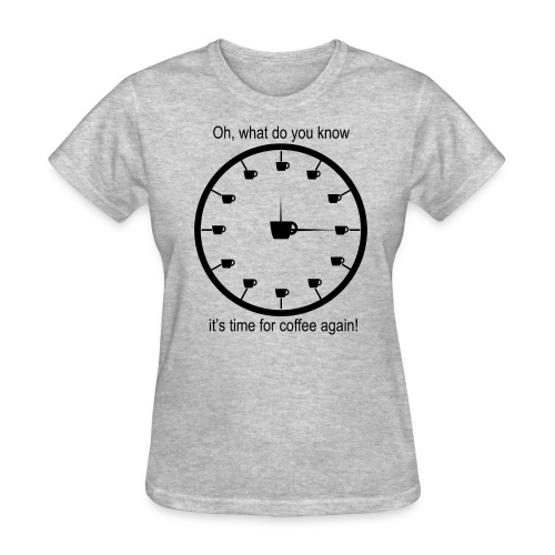 Oh, what do you know it's time for coffee again Women's T Shirt - Women's T-Shirt