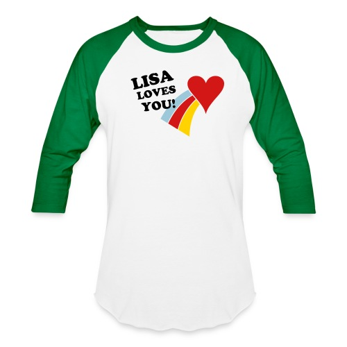 Lisa Loves You (Baseball Shirt) - Baseball T-Shirt