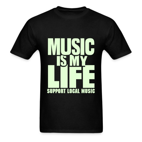 Music Is My Life Black T-Shirt Mens - Men's T-Shirt