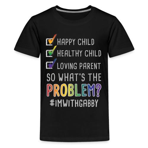 Children's Black - Happy Child - Kids' Premium T-Shirt