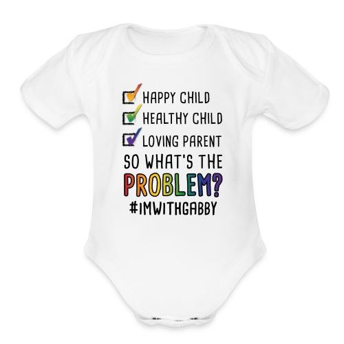 White One Piece Infant - Happy Child - Organic Short Sleeve Baby Bodysuit