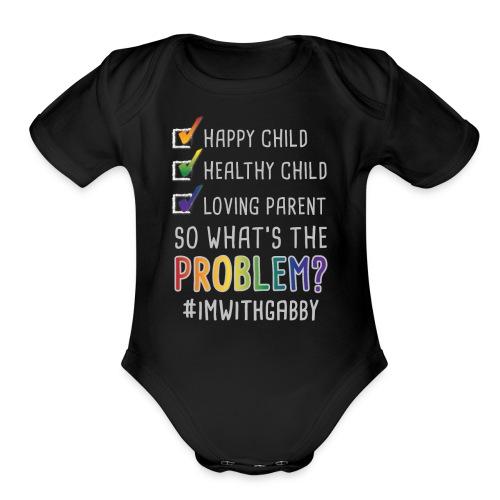 Black One Piece Infant   - Happy Child - Organic Short Sleeve Baby Bodysuit