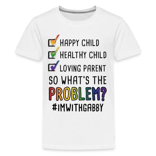 Children's White - Happy Child - Kids' Premium T-Shirt