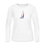 Long Sleeve Shirts ~ Women's Long Sleeve Jersey T-Shirt ~ Sailing America