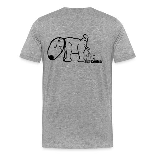 Gun Control Dog - Men's Premium T-Shirt