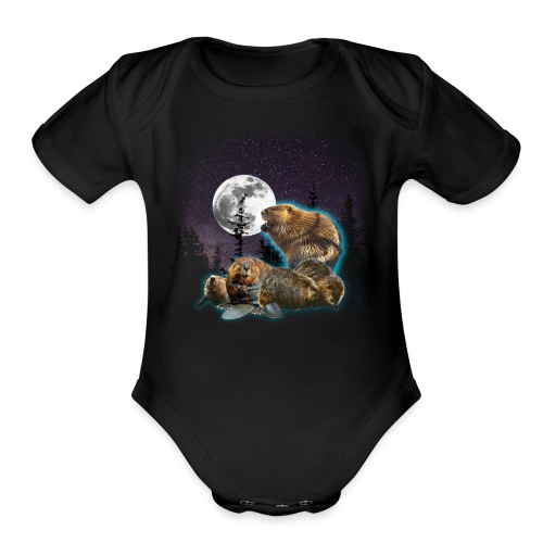 Majavaton Marraskuu Baby One Piece - Organic Short Sleeve Baby Bodysuit