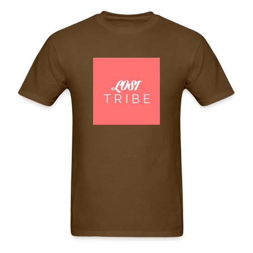 LOST TRIBE Pink Box Logo Tee - Men's T-Shirt