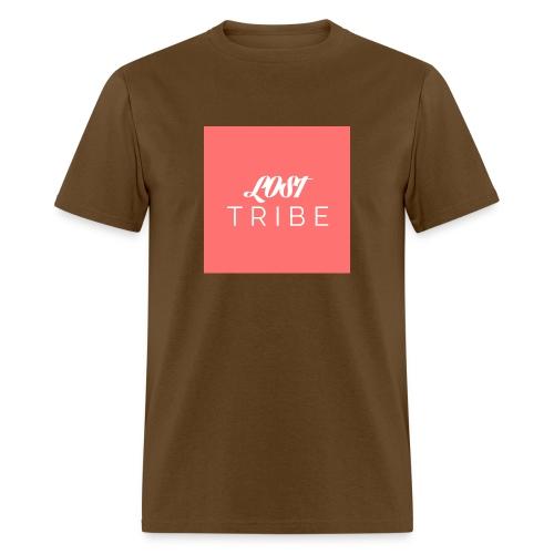 LOST TRIBE Pink Box Logo Tee - Men's T-Shirt