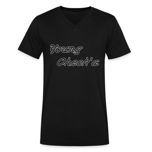 Young Check'a Logo - Men's V-Neck T-Shirt - Men's V-Neck T-Shirt by Canvas