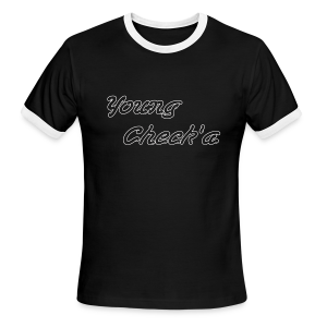 Young Check'a Logo - Men's Ringer T-Shirt - Men's Ringer T-Shirt