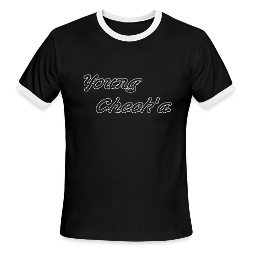 Young Check'a Logo - Men's Ringer T-Shirt - Men's Ringer T-Shirt