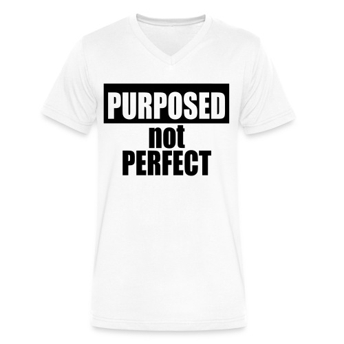 Purposed Tee (Men's) - Men's V-Neck T-Shirt by Canvas
