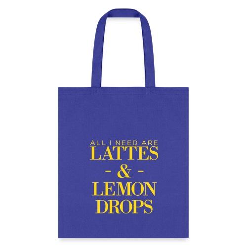 Velvet Flocked Lattes & Lemon Drops Bag - Tote Bag