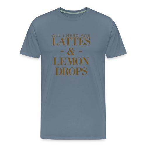 Gold Foil Lattes & Lemon Drops Unisex Tee - Men's Premium T-Shirt