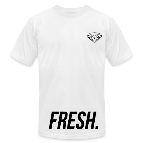 DG FRESHASFUCK WHTE - Men's Fine Jersey T-Shirt