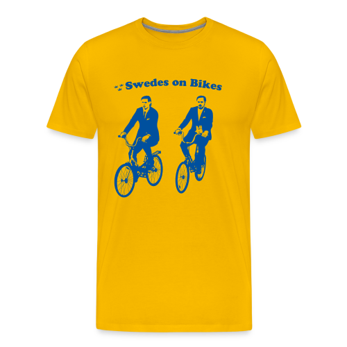Swedes on Bikes (3XL-Plus Sizes) - Men's Premium T-Shirt