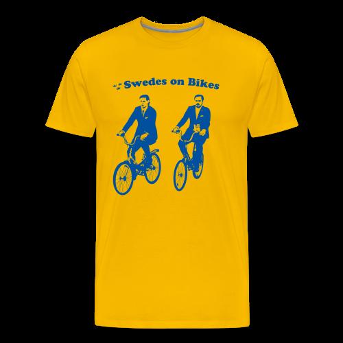 Swedes on Bikes (3XL-Plus Sizes) - Men's Premium T-Shirt
