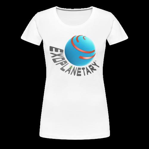 Women's Premium Celestial White Exoplanetary Tee - Women's Premium T-Shirt