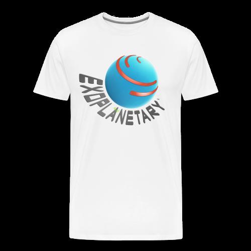 Men's Premium Celestial White Exoplanetary Tee - Men's Premium T-Shirt