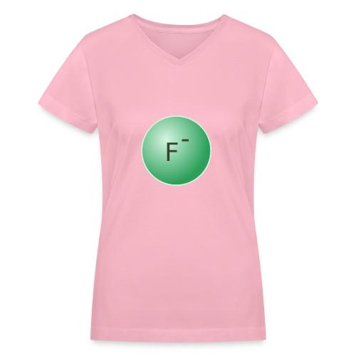 Fluoride Ion Women's T-Shirt - Women's V-Neck T-Shirt