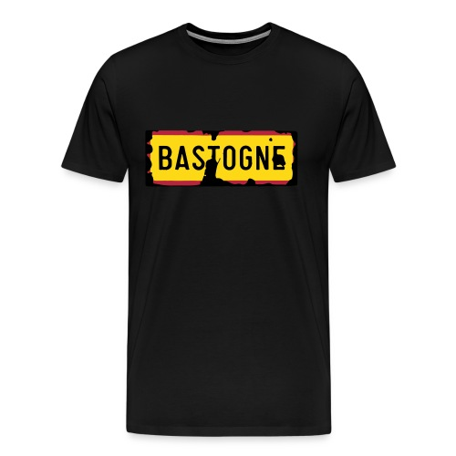 Bastogne Road Sign Men T-Shirt - Men's Premium T-Shirt