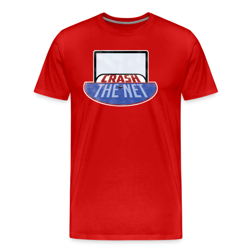 Crash the Net Red (3XL- Plus Sizes) - Men's Premium T-Shirt
