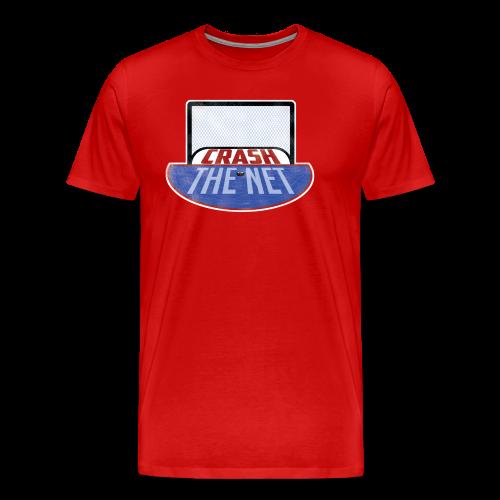 Crash the Net Red (3XL- Plus Sizes) - Men's Premium T-Shirt