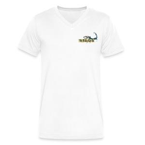 Men's V-Neck - White - Men's V-Neck T-Shirt by Canvas
