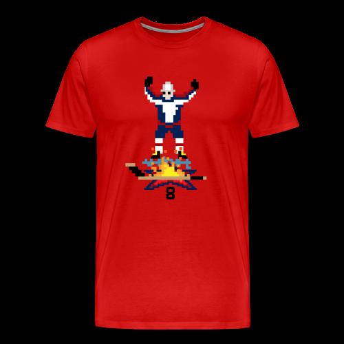 8-Bit Hot Stick (3XL-Plus Sizes) - Men's Premium T-Shirt
