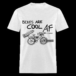 Bikes Are Cool AF (Dark) - Men's T-Shirt