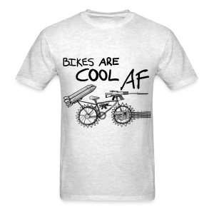 Bikes Are Cool AF (Dark) - Men's T-Shirt