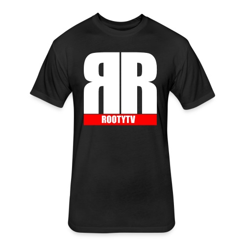 Official Mens RootyTv Tshirts - Fitted Cotton/Poly T-Shirt by Next Level