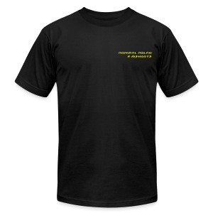 Stream Shirt Mens Black with name plate - Men's Fine Jersey T-Shirt