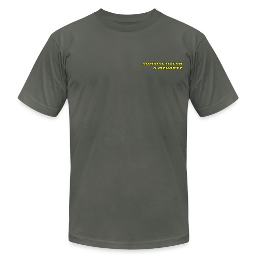 Stream Shirt Mens Grey with name plate - Men's Fine Jersey T-Shirt