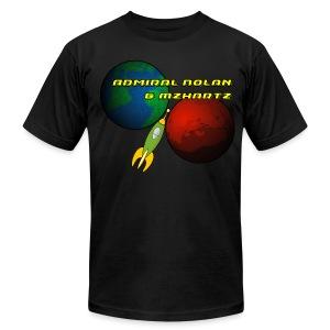 Stream Shirt Mens Black - Men's Fine Jersey T-Shirt