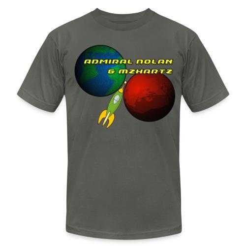 Stream Shirt Mens Grey - Men's Fine Jersey T-Shirt