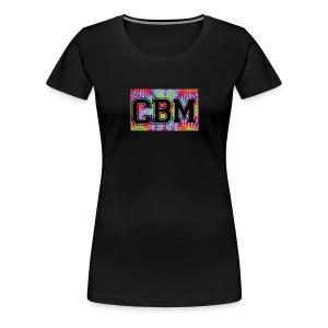 womans Black CBM tie die logo t-shirt - Women's Premium T-Shirt